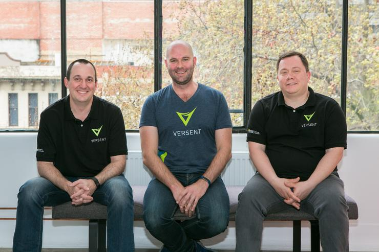 Versent founders (L-R) Eddie Smith, James Coxon and Thor Essman