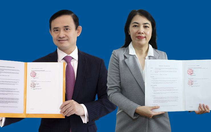 Tran Nhat Minh (CIO - VIB) and Phan Tu Quyen (Marketing and Operation Lead - Microsoft Vietnam)