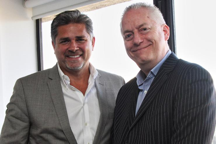 A10 Networks' Ray Smets and WhiteGold Solutions' Leigh Howard. Photo: Mike Gee