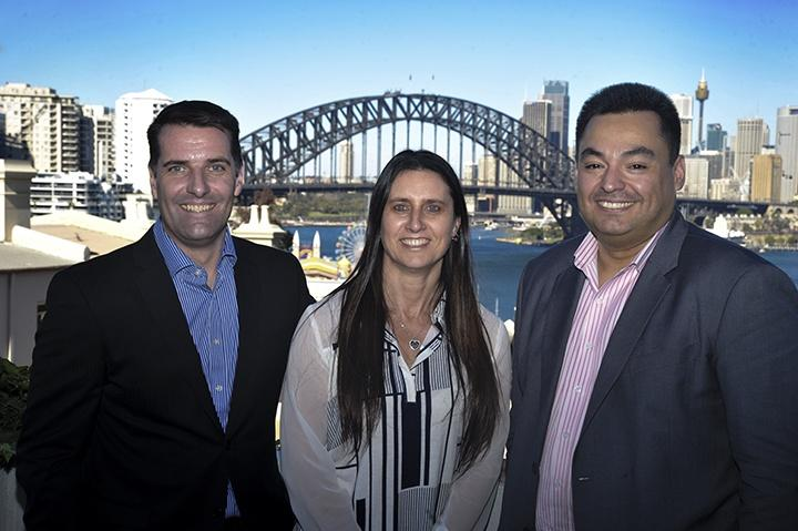 (L-R) Dominic Whitehand, Sharon Whitehand, Jonathan Odria of Exclusive Networks