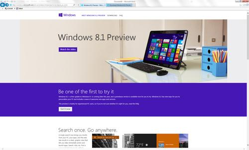 To start, go to preview.windows.com and click the 'Get it now' button.