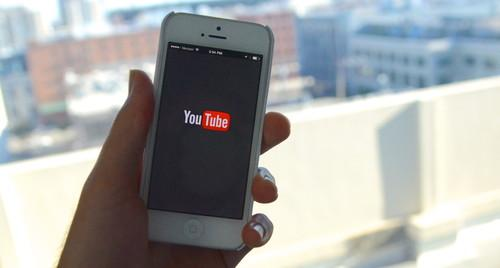 YouTube's mobile app is pictured on October 17, 2013.