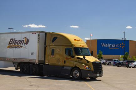 "Bison Transport was a carrier partner in the Walmart Canada's pilot for a new freight and payment network based on blockchain and IoT. According to Rod Hendrickson, vice president of finance for Bison Transport, the end result is ""a mutually beneficial solution"""