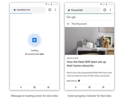 Google may have Chrome label slow sites as a warning to users and an incentive to website developers to make their pages load faster. Google also plans to acknowledge faster sites