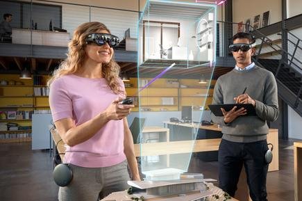 Magic Leap uses hefty goggles tethered to a sizable processing unit and a separate wireless controller. Too cumbersome for the mass market