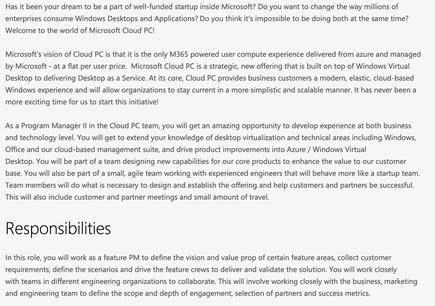 A Microsoft job opening hinted at a service - 'Cloud PC' - that would offer corporate customers virtualised Windows 10 that the vendor would service and maintain