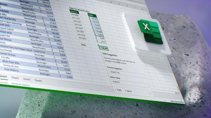 Excel will note what it thinks are errors and alert you to them