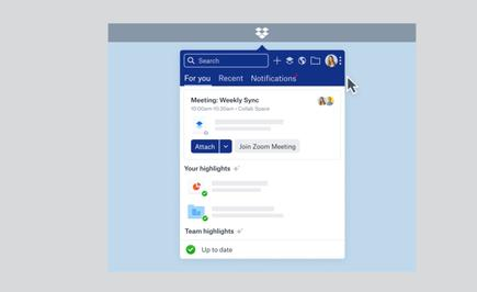 Dropbox says Spaces can help workers better focus on the task at hand