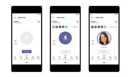 Walkie-Talkie is a mobile Teams feature that allows users to broadcast audio messages