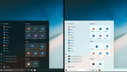 ... and here's what Microsoft is thinking could be the future of the Windows 10 Start menu. Notice how the coloured backgrounds have disappeared.