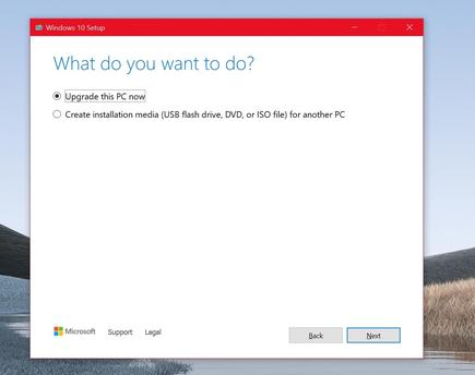 The Windows 10 upgrade tool will provide you with a choice between upgrading the current PC, and downloading the tool onto a USB stick or DVD to upgrade other PCs
