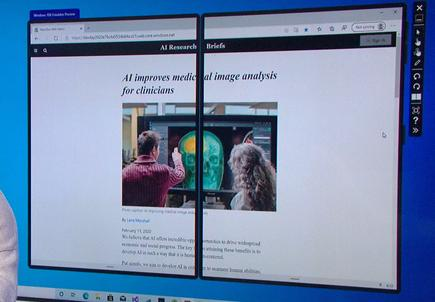 It appears that you won't be seeing this dual-screen view in Windows 10X hardware anytime soon