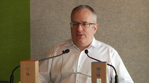 Brendan Eich, CTO of Mozilla, speaks at a San Francisco news conference on July 1, 2013.