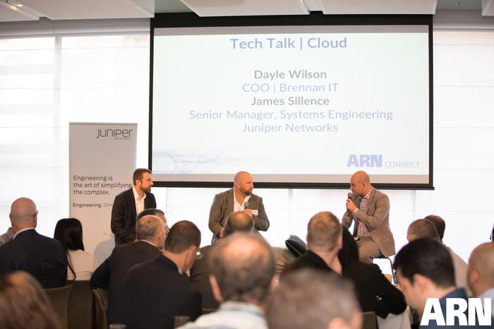 Cloud Tech Talk - James Sillence (Juniper Networks); Dayle Wilson (Brennan IT) and James Henderson (ARN)