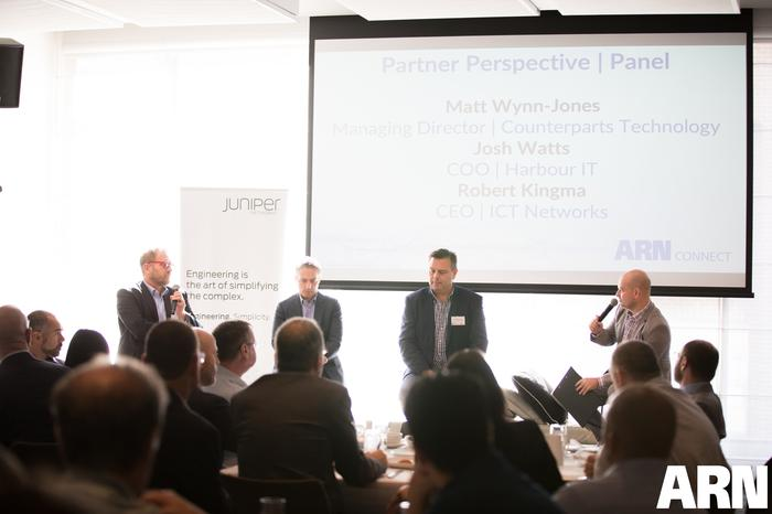 Partner Perspective - Robert Kingma (ICT Networks); Josh Watts (Harbour IT); Matt Wynn-Jones (Counterparts Technology) and James Henderson (ARN)