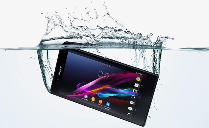 The Xperia Z Ultra is waterproof, not just water resistant. The phone will handle water and dust to IP55 and IP58 standards.