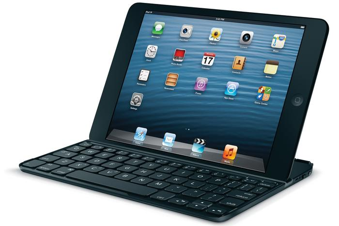 The Logitech Ultrathin Keyboard for iPad mini.