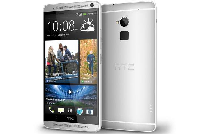 The HTC One Max Android phone.