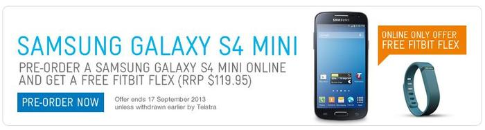 The Galaxy S4 Mini, as it appears on Telstra's Web site.