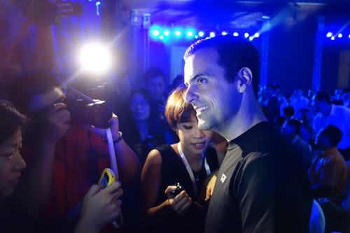 Former Google executive Hugo Barra at Thursday's Xiaomi event