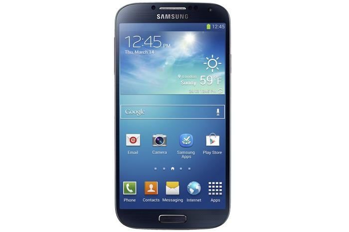 The Samsung Galaxy S4 Android phone.