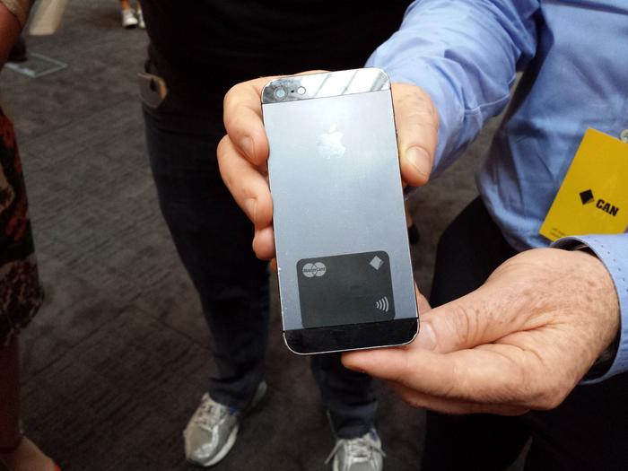 The CommBank PayTag sticker attaches to the back of a smartphone and will cost $2.99.