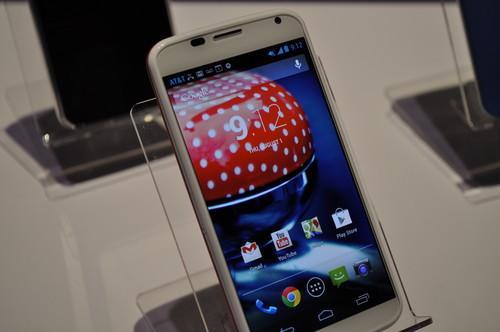 The Moto X smartphone.