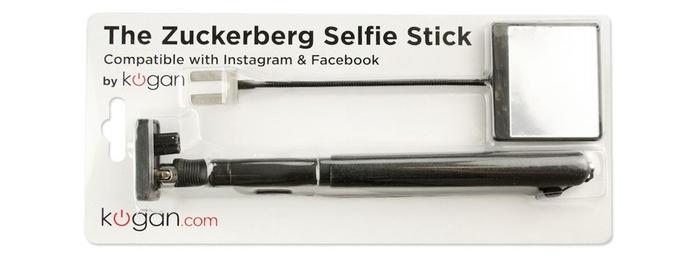 The Zuckerberg Selfie Stick in its packaging.