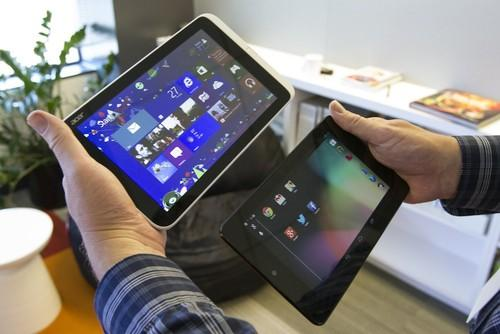 The Iconia W3-810 is slightly larger and heavier than the Google Nexus 7.