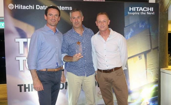 Nathan McGregor (Hitachi Data Systems A/NZ), Michael Visentin (UXC, a CSC company) and Phil Teague (HDS A/NZ)