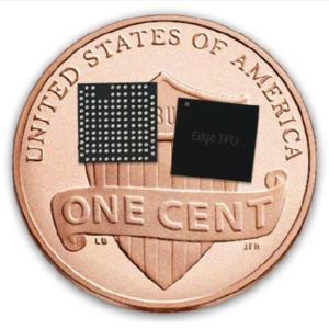 Google Edge TPU on a penny coin