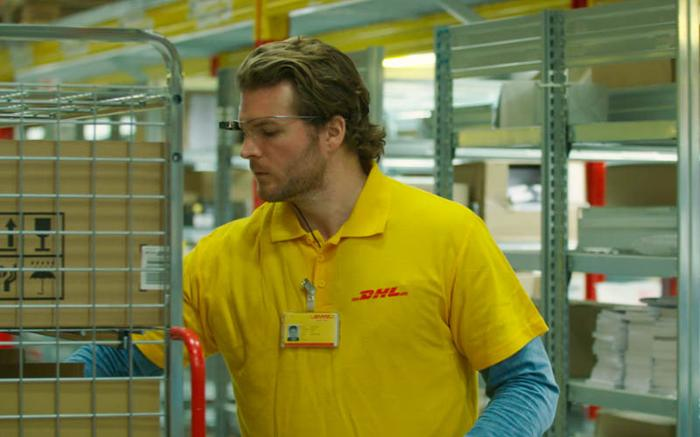 DHL employees use Glass to move inventory around the warehouse faster