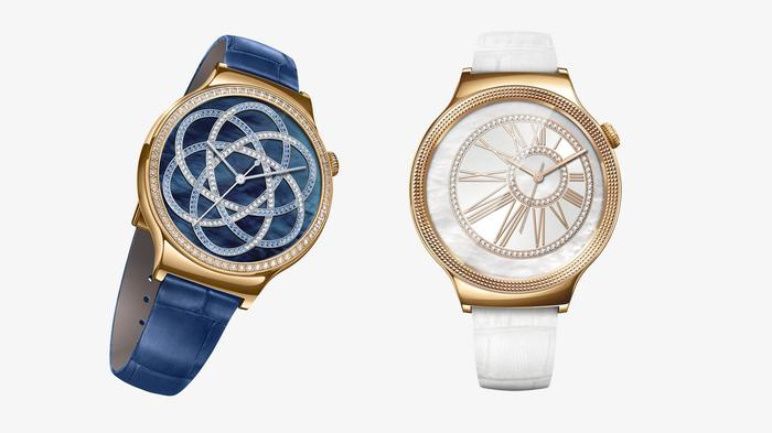Huawei is adamant that men can wear the new models too. But it's been fun picturing the guy who can make a white-strapped, rose gold watch with encrusted Swarovski crystals work for them.