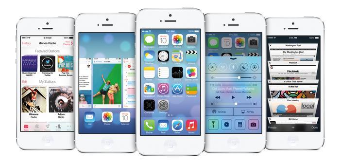 iOS 7 on the iPhone 5