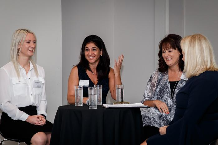Holly Melrose (eNerds), Lisa Stockwell (Arrow ECS A/NZ), Isabel Boniface (Microsoft), Susan Searle (ARN)