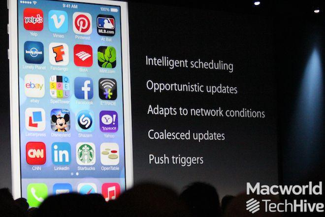iOS7 on the iPhone