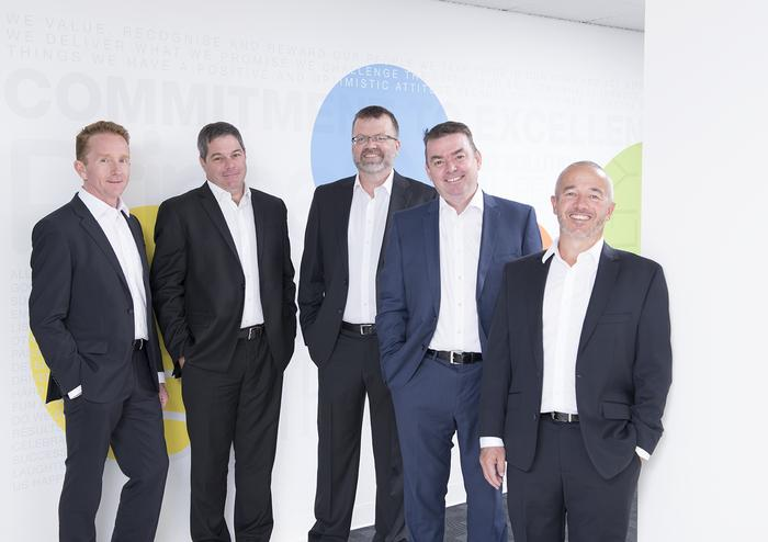 PrimeQ founders (L-R) Chris Downie, Mike Luyckx, Simon Cohen, Andrew McAdams and Andrew Treloar.