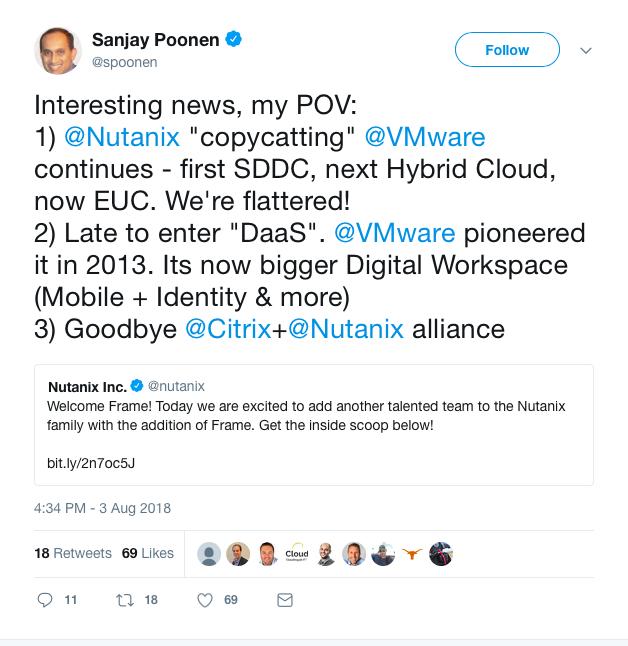 VMware tweet