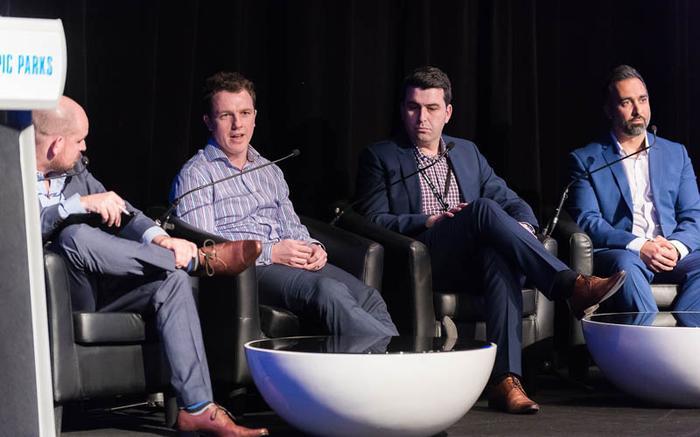 James Henderson (ARN); Luke Alexander (Shine Solutions); Tony Nikolovski (JB Hi-Fi) and Deniz Kilicci (Synnex)