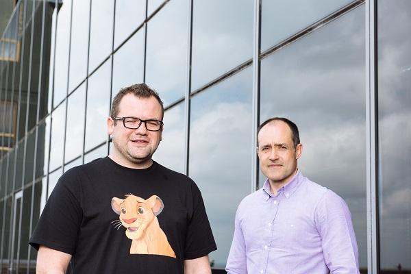 Kogan.com founder and CEO Ruslan Kogan with Vodafone CEO Iñaki Berroeta.