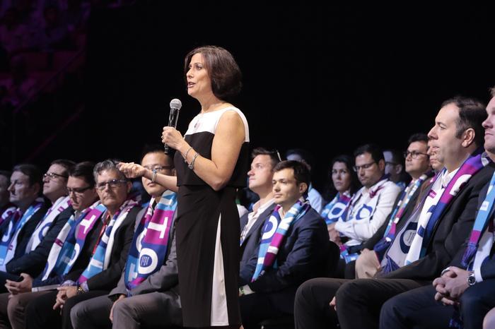 Gavriella Schuster - CVP, Microsoft Worldwide Partner Group with Partner of the Year Award winners
