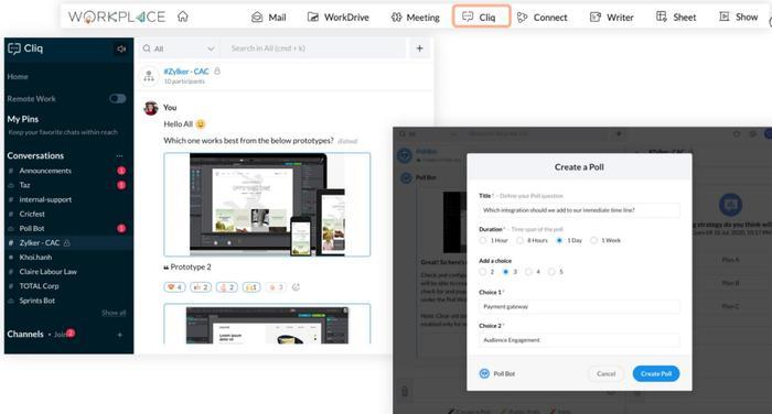 Zoho's Cliq social app